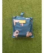 Pug Dog  Machine Washable Reusable Grocery Bag Fold Up Bag holds 50 lbs ... - £2.87 GBP