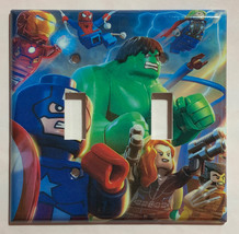 Lego Super hero Hulk Spiderman Light Switch Outlet wall Cover Plate Home decor image 2