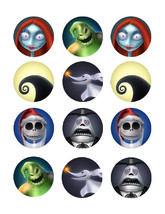 Nightmare before Christmas edible party cupcake toppers cupcake image sheet - $7.80