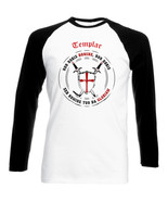 TEMPLAR-NON NOBIS DOMINE .. 012 - NEW COTTON BLACK SLEEVED TSHIRT- ALL S... - $27.17