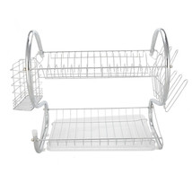 2 tier Kitchen Dish Cup Drying Rack Shelf Drainer Dryer Cutlery Holder O... - $19.69