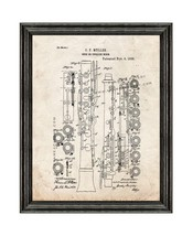 Oboe Patent Print Old Look with Black Wood Frame - $24.95+