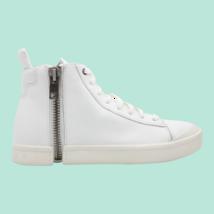 DIESEL S-Nentish Mens High-Top Fashion Sneaker White Size 12 - $168.29