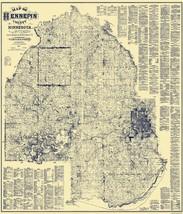 Hennepin Minnesota Landowner - Warner 1879 - 23 x 26.81 - $36.95+