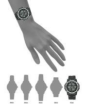 I.N.C. Men's Black Silver Resin Silicone Strap 46mm Digital Sports Watch NIB image 5
