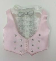 Shirley Temple Danbury Mint Dress Up Doll Clothes Pink Vest Dimples - $9.89