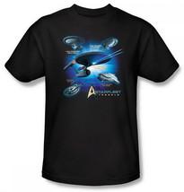 Star Trek All 5 TV Series Starfleet Vessels and Classic Command Logo T-S... - $21.04