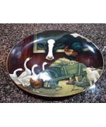 FRANKLIN MINT BARNYARD GATHERING PORCELAIN PLATE Limited Edition - $19.00