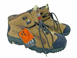 Timberland Pro Series 7W Boots Steel Toe Lace Up Work Brown Wide Men's NEW - $74.95