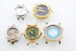 Fossil Relic Watch Heads Womens Stainless Gold Silver Quartz Non-Working... - $19.06