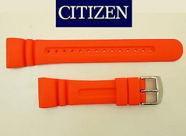 Citizen AQUALAND Original  Watch Band ORANGE Strap RUBBER JV0030-19 JV00... - $79.95