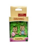 Calico Critters Sandy Cat Twins Baby Kittens Boy Girl Scott Skylar CC140... - $10.94