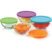New Libbey 8pc Moderno Bowls with Lids Set New - $18.79