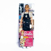 Barbie Careers Ken Doll Barista Male By Mattel You Can Be Anything - $11.64