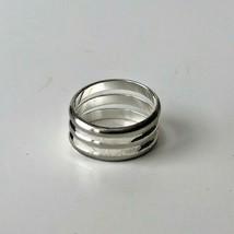 Estate Vintage Women'sTriple Band Silver Tone Metal Ring Size 6.5 - $14.12