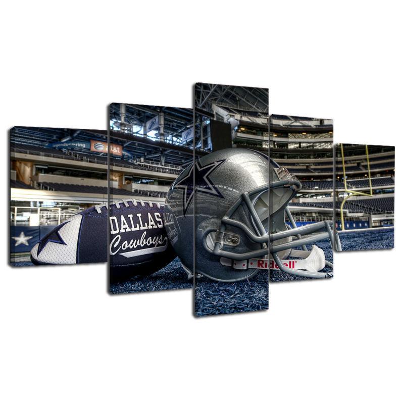 5 Panel Dallas Cowboys Canvas Prints Painting Wall Art Nfl: DALLAS COWBOYS 5 PCS Painting Canvas Wall Art NFL Sport