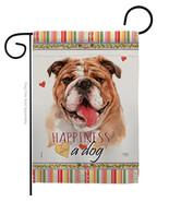 Bulldog Happiness - Impressions Decorative Garden Flag G160188-BO - $19.97