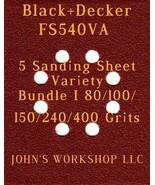 Black+Decker FS540VA - 80/100/150/240/400 Grits - 5 Sandpaper Variety Bu... - $7.53