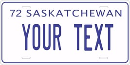 Saskatchewan 1972 License Plate Personalized Custom Car Bike Motorcycle ... - $10.99+