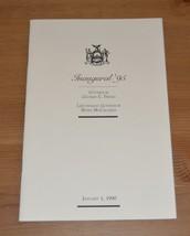 New York Governor George Pataki autographed 1995 Inaugural Program - $49.00