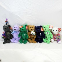 Ty Beanie Bears Lot of 7 New Year Soccer Thinking of You Princess Retired - $19.99