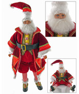 "Katherine's Collection Santa Claus doll Noel 28-628037  18"" sit or stand - $159.99"