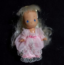 "Princess Precious Moments Mini Doll 4"" Rose Art 1996 - $14.84"