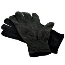 Harley Davidson Motorcycles Women's Black Knit Gloves Orange Bar & Shield image 2
