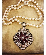 Edwardian necklace / pearl victorian style / fit for a Queen / gypsy jew... - $275.00