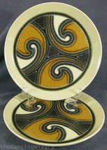 Polynesia D630 Dinner Plates Lot of 2 Crown Lynn Earthstone Abstract New... - $28.95