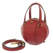 GUCCI Shoulder Bag Mini Leather Red Basket Ball 2Way 547855 Italy Authentic - $1,638.70