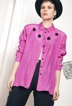 80s vintage pink rose blouse - $28.91