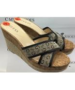 GUESS Women's Platform Wedges Slide Cork Brown Beige Size US 9.5 ( #1238... - $25.00