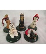 5 Byers' Choice The Carolers Dogs - Shepherd Dalmatian Dachshund Terrier... - $30.00