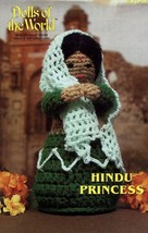 "Hindu Princess 10.5"" Doll Annie's Dolls of the World Crochet Pattern Lea... - $4.47"