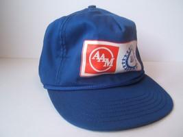 AAM UAW Hat Vintage Blue Strapback Baseball Cap Made USA - $23.05