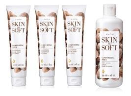 Avon Skin So Soft Comforting Shea Body Lotion & Hand Cream 4 Piece Set - $36.99