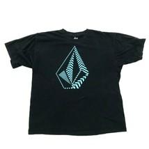 Volcom Piedra Hombre Logo Camisa Negra Ajuste Holgado Manga Corta Sk8 Camiseta - $18.71