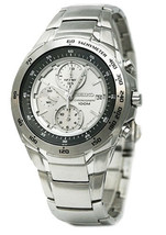 SEIKO Chronograph SND697 SND697P1 Men Gray Dial Stainless Steel 100m Watch - $117.00