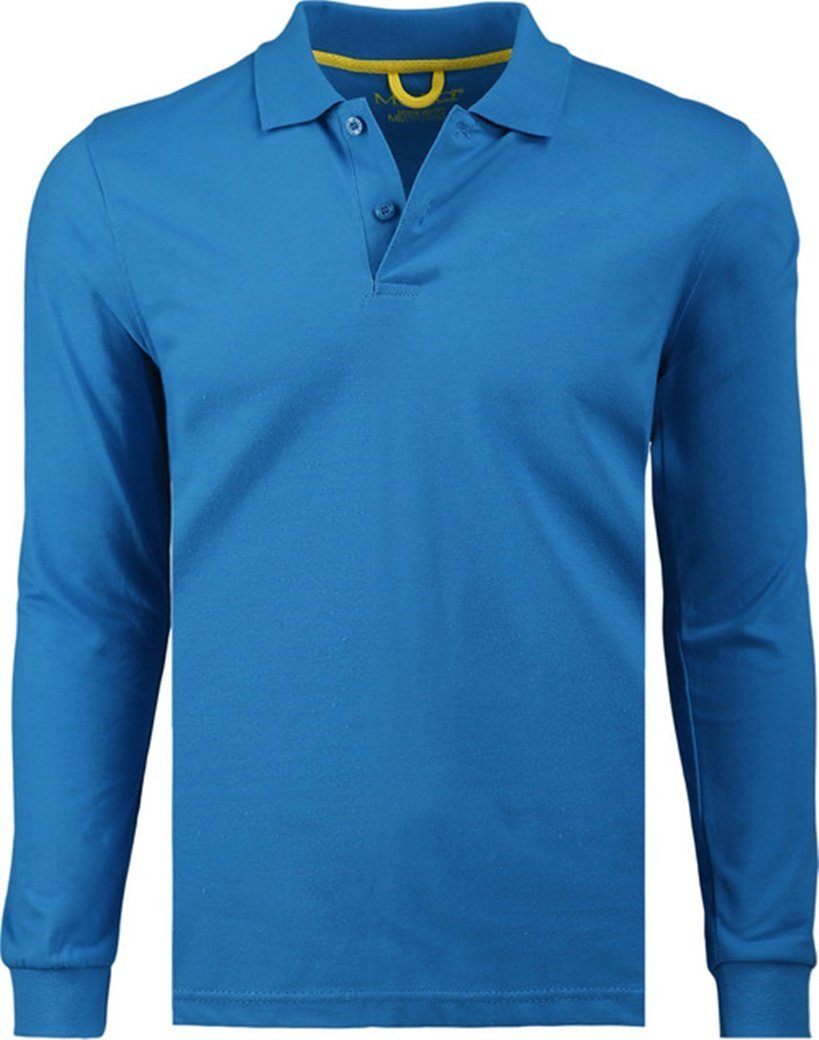 Primary image for Marquis Men's Caribbean Blue Long Sleeve Polo Jersey - Extra Large