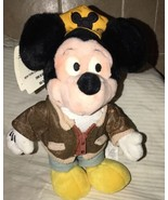 "Vintage Mickey Mouse Disney Store New York Cabby 11"" Mickey Plush Doll w... - $19.79"