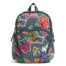 Vera Bradley Quilted Signature Cotton Hadley Backpack, Falling Flowers