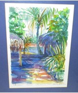 Rebecca Holman Cancun Signed Print 40/250 14.25.x 17 inch Oak Frame - $11.95