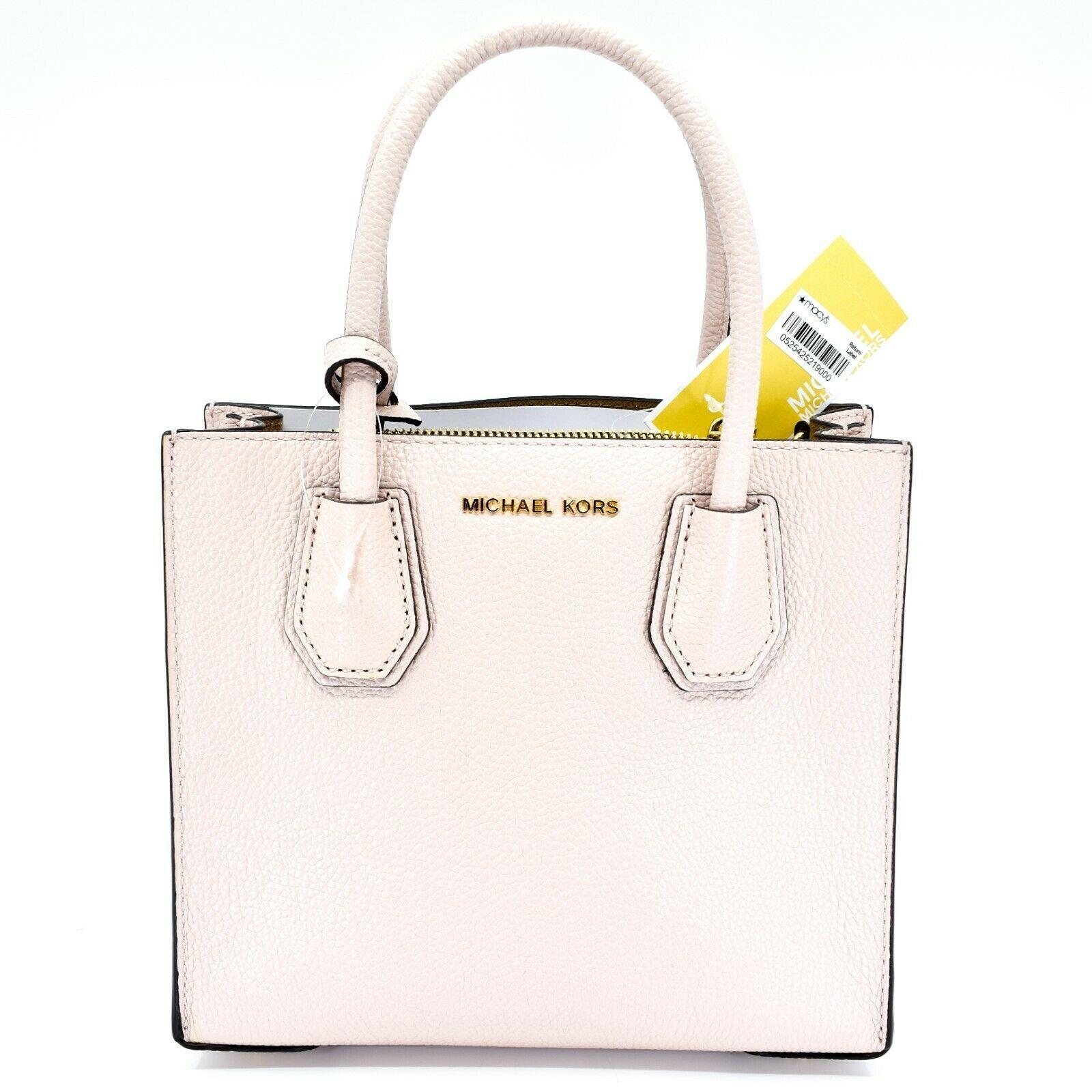 Michael Kors Mercer Soft Pink Pebbled Leather Medium Crossbody Messenger Bag image 2