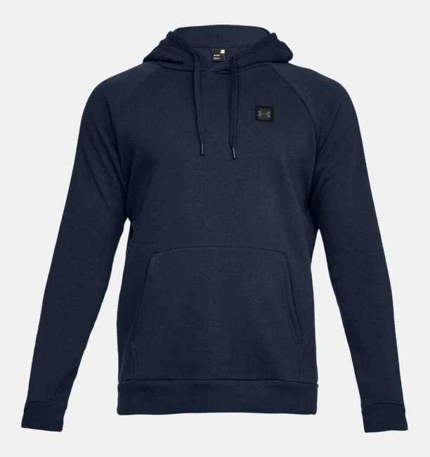 Primary image for Under Armour Men's Rival Fleece Pullover Hoodie NEW AUTHENTIC Navy 1320736-408