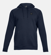 Under Armour Men's Rival Fleece Pullover Hoodie NEW AUTHENTIC Navy 13207... - $34.49
