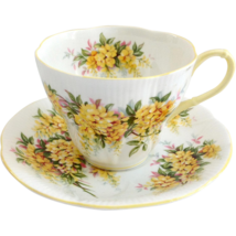 Royal Albert Laburnum Blossom Time Series Bone China Teacup and Saucer - $37.39