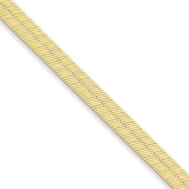"""14K Yellow Gold 6.5mm Silky Herringbone Necklace Chain -7"""" (7in x 6.5mm) - $553.00"""