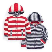 NEW JoJo Maman Bebe Baby Boys' Hooded Top - Red/Ecru Stripe - 12-18M - $14.95