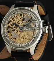 Heart on the 1897 Omega / one product / full skeleton / manual winding w... - $1,438.68